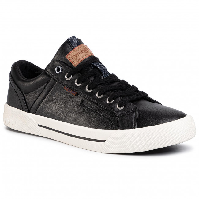 Sneakersy WRANGLER - Globe Vegan WM01055A  Black 062