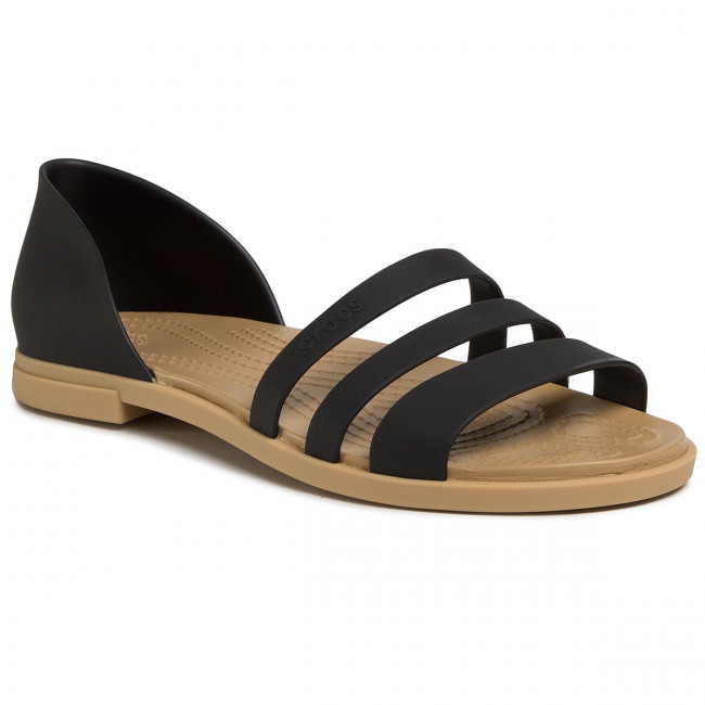 Sandały CROCS - Tulum Open Flat W 206109 Black/Tan