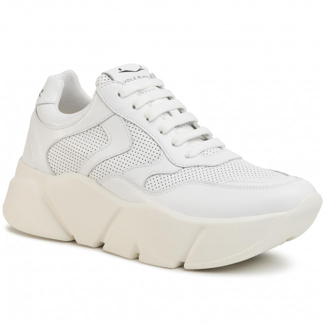 Sneakersy VOILE BLANCHE - Monster 0012013532.02.0N01 Bianco