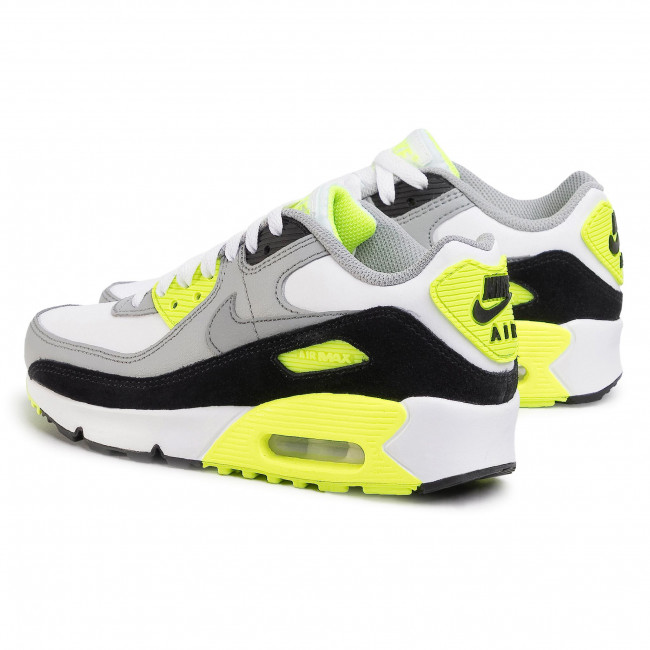 Buty NIKE Air Max 90 Ltr (GS) CD6864 101 White/Particle Grey Sneakersy Półbuty Damskie