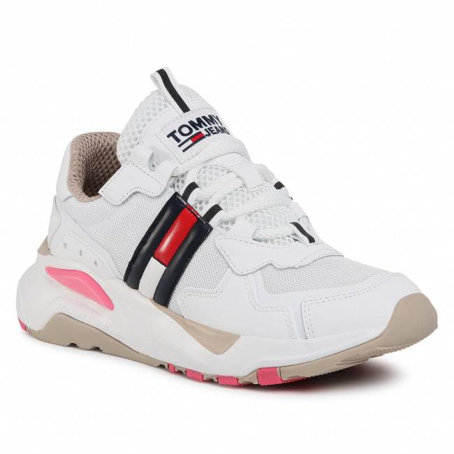 Sneakersy TOMMY JEANS - Tommy Jeans Cool Runner EN0EN00984 White/Glamour 0LC