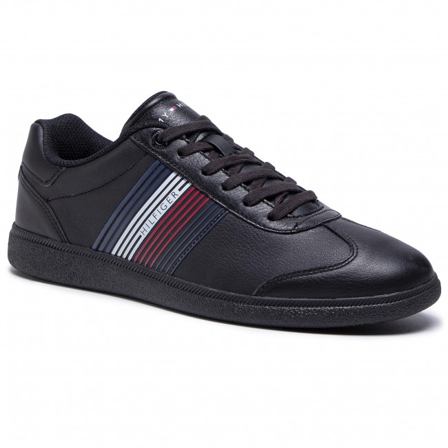 Sneakersy TOMMY HILFIGER - Essential Corporate Cupsole FM0FM02842 Black BDS