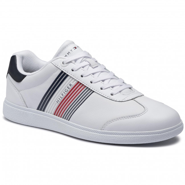 Sneakersy TOMMY HILFIGER - Essential Corporate Cupsole FM0FM02842 White YBR