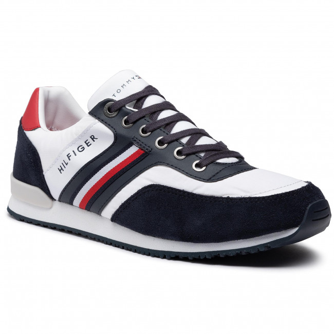 Sneakersy TOMMY HILFIGER - Iconic Material Mix Runner FM0FM02847 Desert Sky DW5