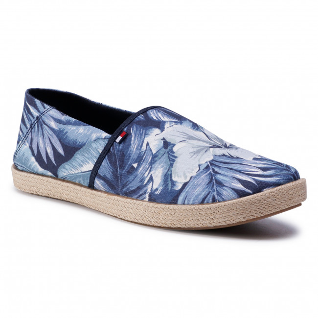 Espadryle TOMMY HILFIGER - Palm Print Summer Slipon FM0FM02962 Palm Print 0GZ