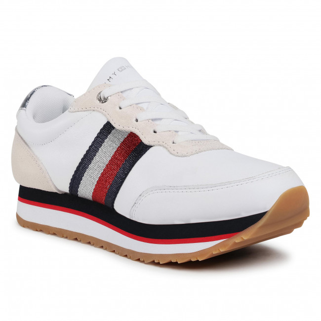 Sneakersy TOMMY HILFIGER - Tommy Tape Sneaker FW0FW04997 White YBR