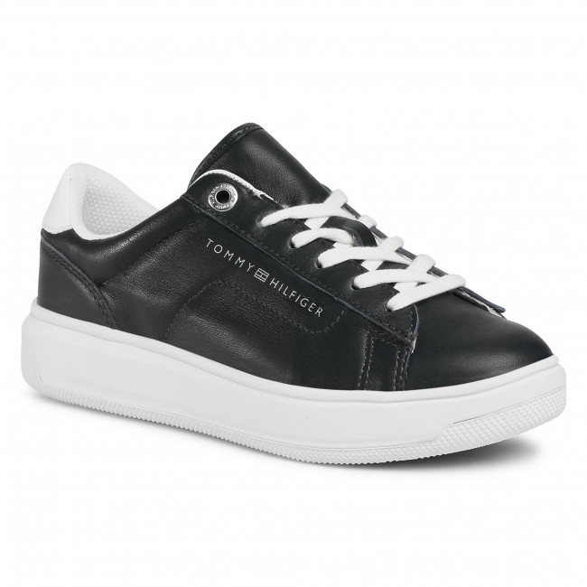 Sneakersy TOMMY HILFIGER - Leather Tommy Hilfiger Cupsole FW0FW05009 Desert Sky DW5