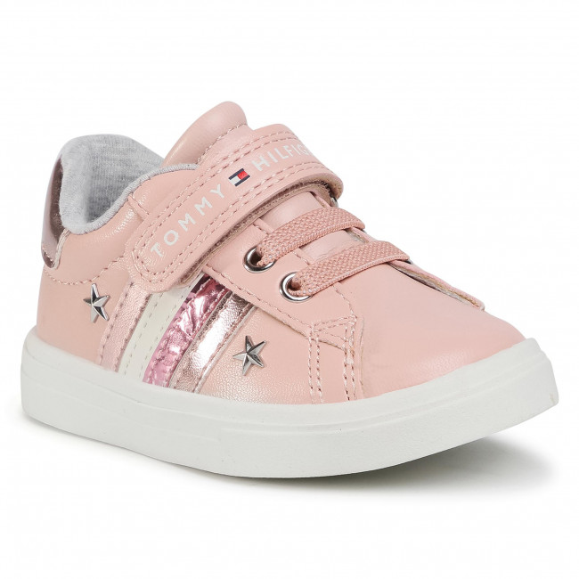 Sneakersy TOMMY HILFIGER - Low Cut Lace Up T1A4-30780-1032 M Pink 302