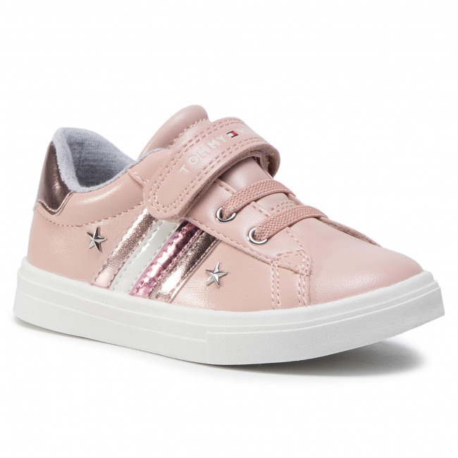 Sneakersy TOMMY HILFIGER - Low Cut Lace Up T1A4-30780-1032 S Pink 302