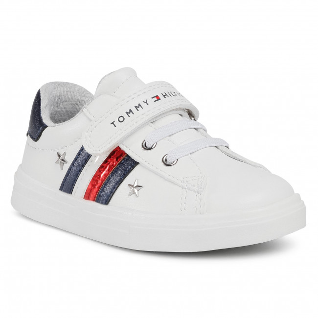 Sneakersy TOMMY HILFIGER - Low Cut Lace T1A4-30780-1032 S White/Blue X008