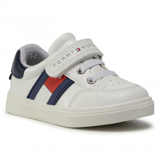 Sneakersy TOMMY HILFIGER - Low Cut Lace T1B4-30702-0622 M White/Blue/Red  Y003