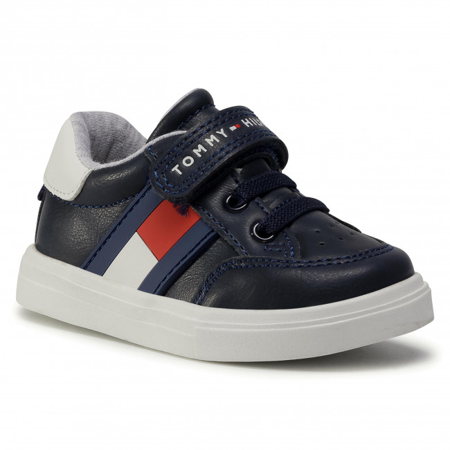 Sneakersy TOMMY HILFIGER - Low Cut Lace T1B4-30702-0622 M Blue/White/Red