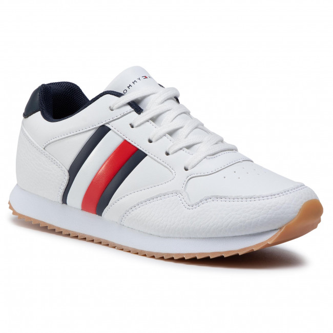Sneakersy TOMMY HILFIGER - Low Cut Lace-Up T3B4-30935-0621X S White/Blue 336