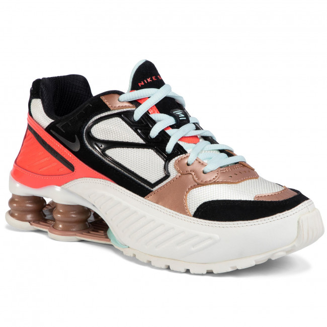Buty NIKE - Shox Enigma CT3451 100 Sail/Black/Mtlc/Red Bronze