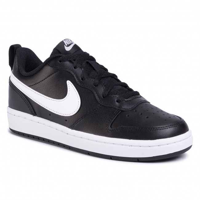Buty NIKE - Court Borough Low 2 (GS) BQ5448 002  Black/White