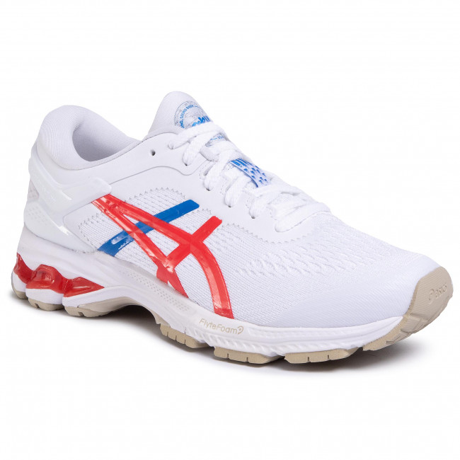 Buty ASICS - Gel-Kayano 26 1012A654 White/Classic Red 100