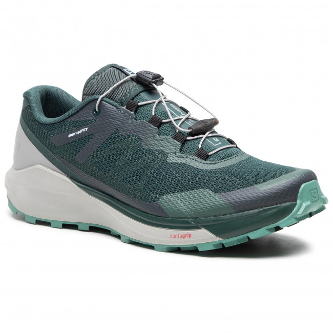 Buty SALOMON - Sense Ride 3 411191 27 V0 Green Gables/Alloy/Oil Blue
