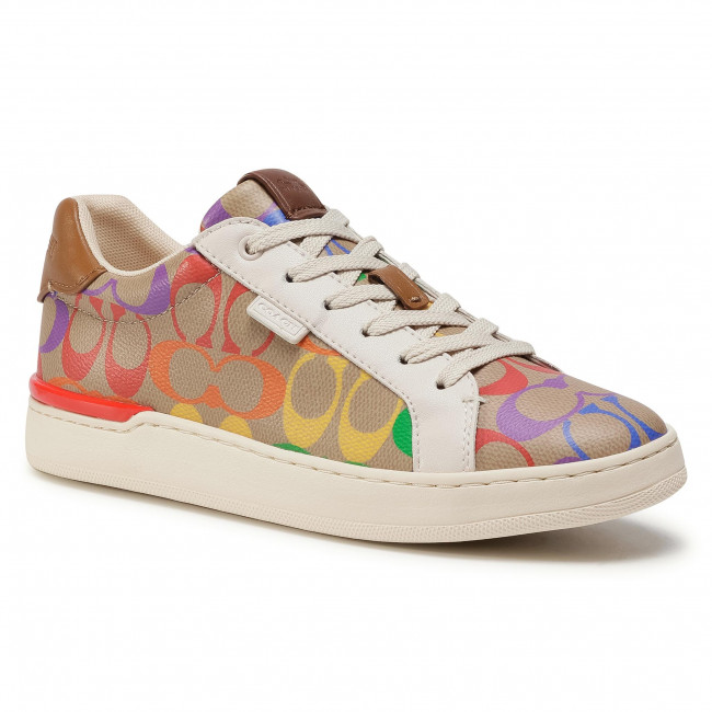 Sneakersy COACH - Lowline Rainbow Pvc G5169 10011275 Tan Multi TAM