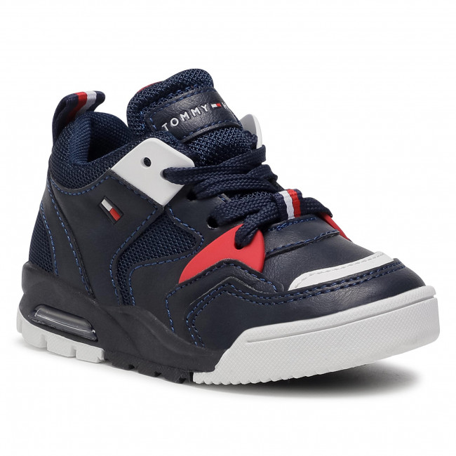 Sneakersy TOMMY HILFIGER - Low Cut Lace-Up Sneaker T1B4 30910 0208X007 M Blue/White
