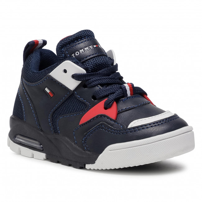Sneakersy TOMMY HILFIGER - Low Cut Lace Up Sneaker T1B4-30910-0208X S Blue/White X007