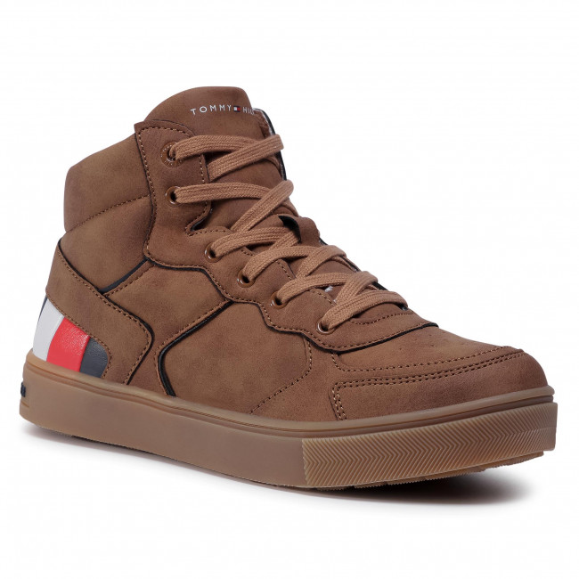 Sneakersy TOMMY HILFIGER - High Top Lace-Up Sneaker T3B4-30926-1030520 S Tabacco 520