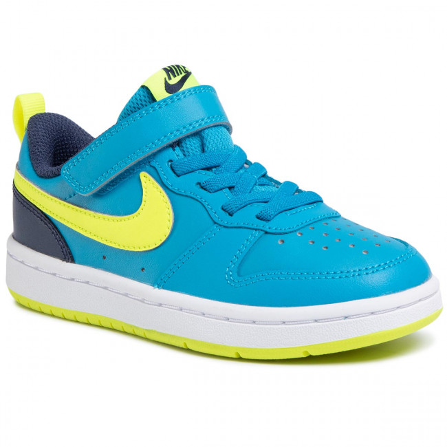 Buty NIKE - Court Borough Low 2 (Psv) BQ5451 400 Laser Blue/Lemon Venom