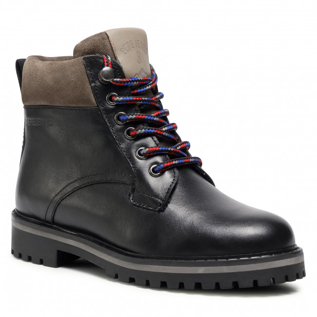 Trapery PEPE JEANS - Nick Bootie Leather PBS50088  Black 999