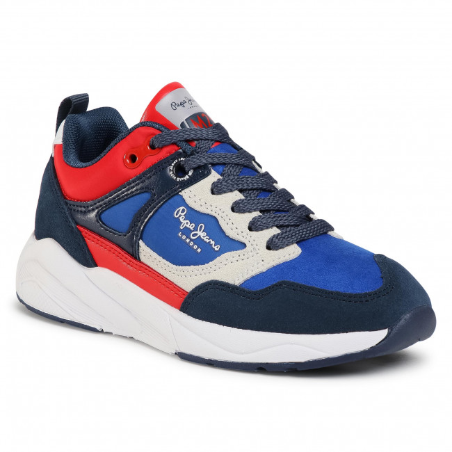 Sneakersy PEPE JEANS - Orbital Combi Juni PBS30461 Electric Blue 554