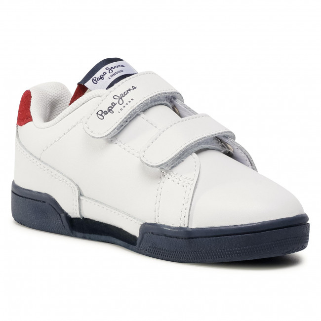 Sneakersy PEPE JEANS - Lambert Kids Boy PBS30457 White 800