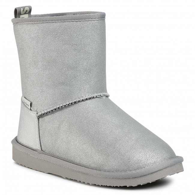 Buty PEPE JEANS - Angel Shiny PGS30472 Silver Grey 914