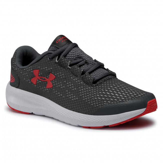 Buty UNDER ARMOUR - Ua Gs Charged Pursuit 2 3022860-102  Gry