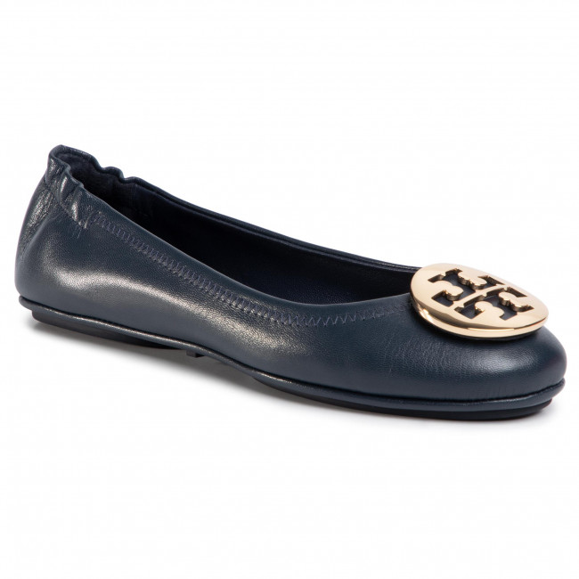 Baleriny TORY BURCH - Minnie Travel Ballet With Metal 50393 Ink Navy/Gold 401