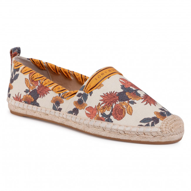 Espadryle TORY BURCH - Gosgrain Whipstitch Espadrille 71649 Orange Wonderland Vine 992