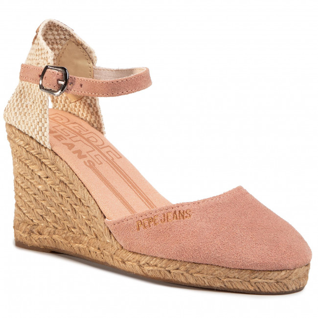 Espadryle PEPE JEANS - Wendy Bass PLS90434  Dark Off Pink 322