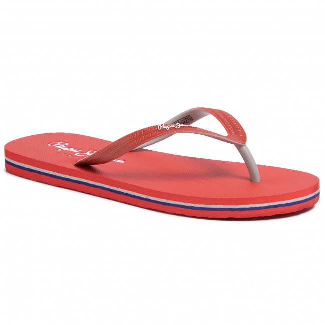 Japonki PEPE JEANS - Beach Basic PBS70032 Red 255