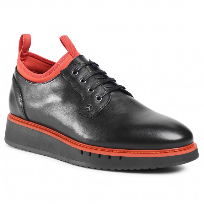 Półbuty TOMMY HILFIGER - Mb Lace Up Derby 2A FM0FM03167 Black/Princeton Orange 0GP