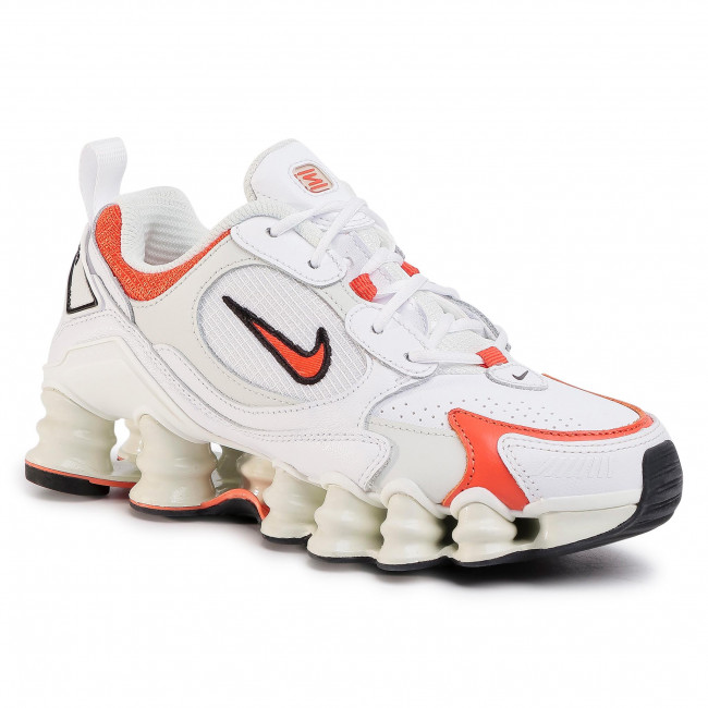 Buty NIKE - Shox Tl Nova AT8046 101 White/Team Orange/Spruce Aura