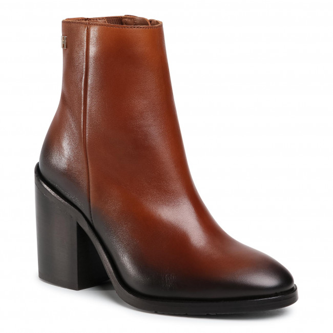 Botki TOMMY HILFIGER - Shaded Leather High Heel Boot FW0FW05164 Pumpkin Paradise GOW