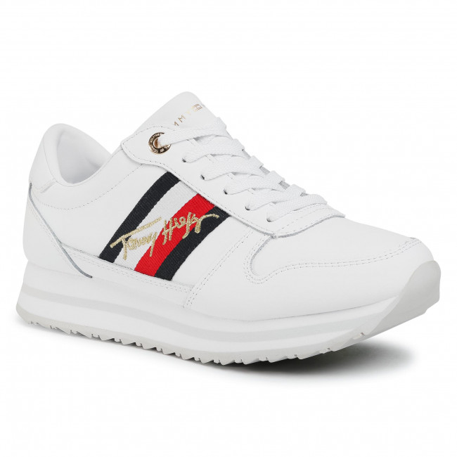 Sneakersy TOMMY HILFIGER - Th Signature Runner Sneaker FW0FW05218 White YBR