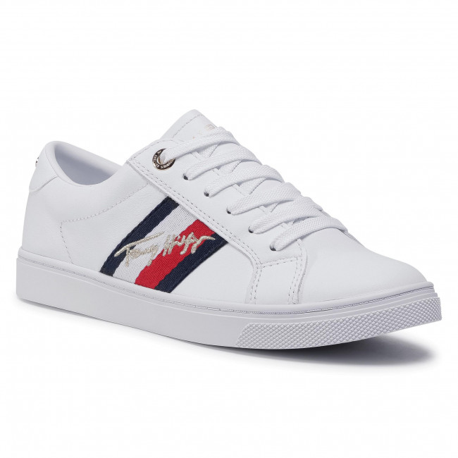 Sneakersy TOMMY HILFIGER - Signature Cupsole Sneaker FW0FW05224 White YBR