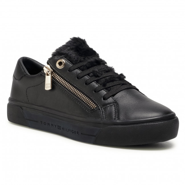 Sneakersy TOMMY HILFIGER - Casual Warmlined Th Sneaker FW0FW05229 Black BDS