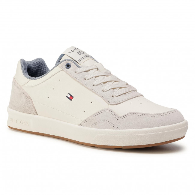 Sneakersy TOMMY HILFIGER - Lightweight Leather Cupsole FM0FM02991 Ivory YBI