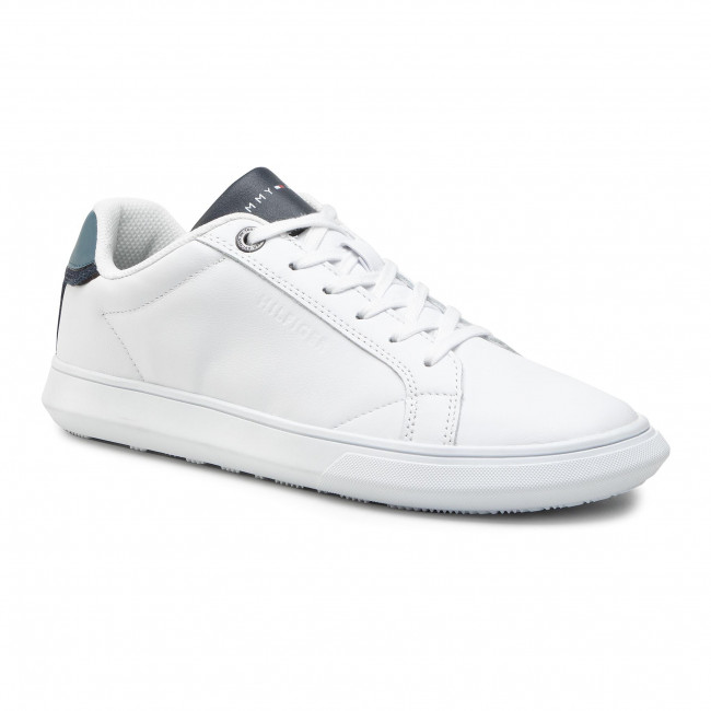 Sneakersy TOMMY HILFIGER - Essential Leather Cupsole Pop FM0FM03089 Charcoal Blue DA4