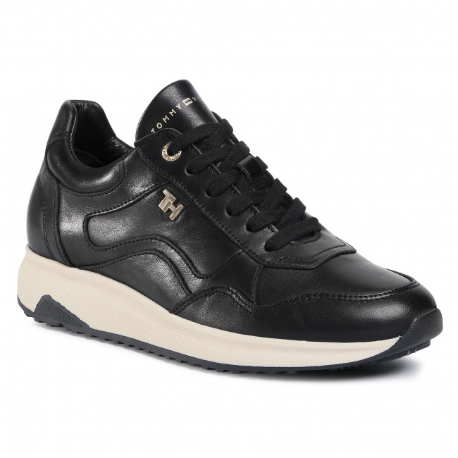 Sneakersy TOMMY HILFIGER - Elevated Th Leather Runner FW0FW05295 Black BDS