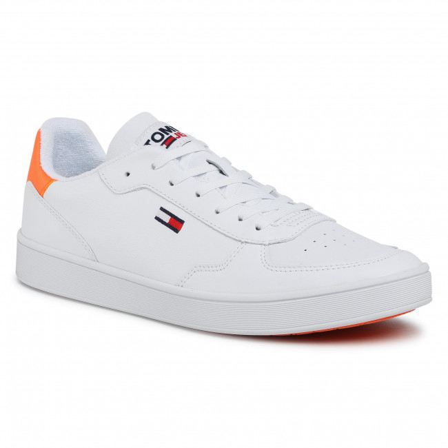 Sneakersy TOMMY JEANS - Essential Cupsole EM0EM00573 Solar Flare SN3