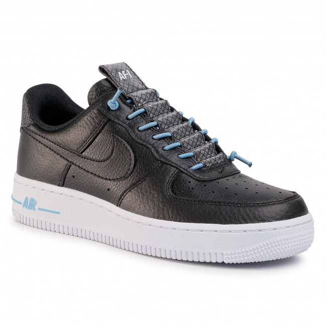 Buty NIKE - Air Force 1 '07 Lx 898889 015 Black/Black/Light Blue/Black