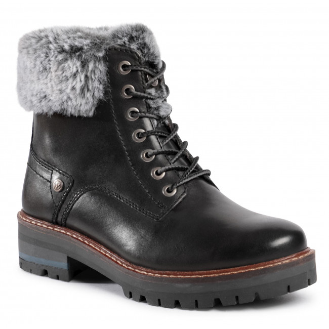 Botki WRANGLER - Denver Alaska Leather WL02541A  Black 062