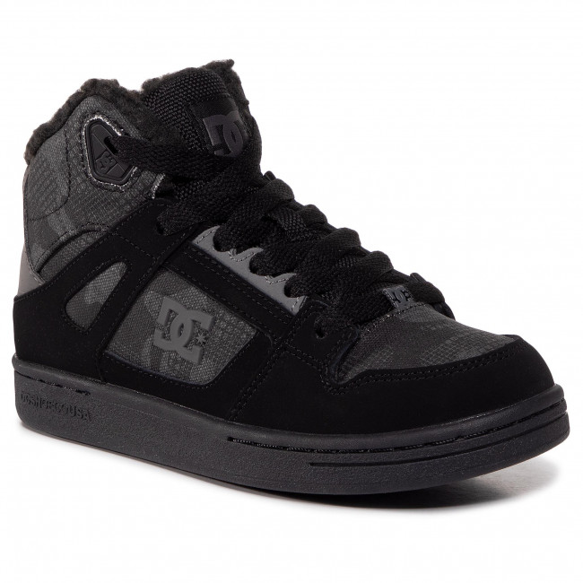 Sneakersy DC - Pure High-Top Wnt  ADBS100245 Black Camouflage (CA2)