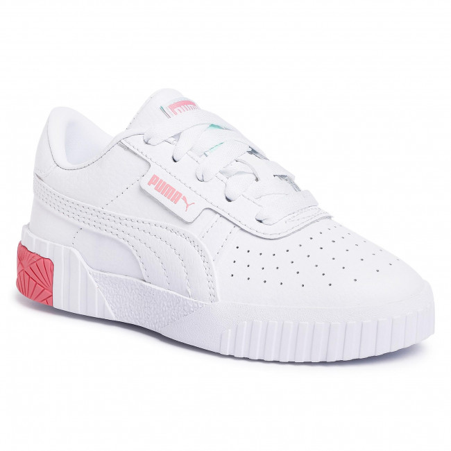Sneakersy PUMA - Cali Ps 372844 09 Puma White/Peony/Mist Green