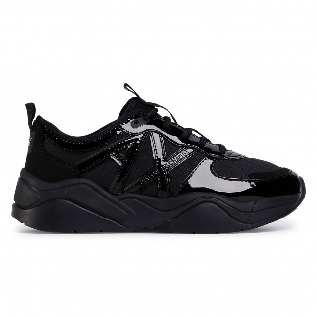 Sneakersy ARMANI EXCHANGE - XDX039 XV311 00002 Black - Sneakersy - PÓłbuty - Damskie XMTZNP6